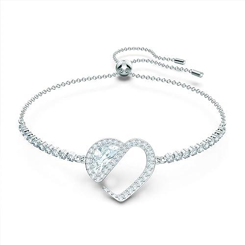 Amazon.com: Swarovski Hear Heart Bracelet, with White Crystal ...