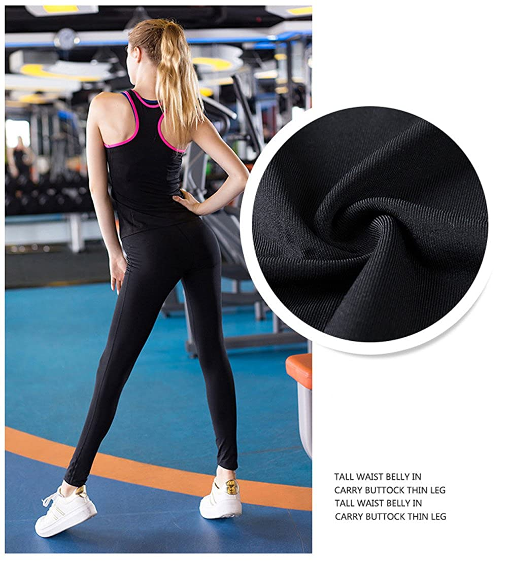 4ff72c165fb0 ... Rookay High Waist Yoga Running Workout Compression Pants Full Length  Ankle Legging Slim Tights for Women ...