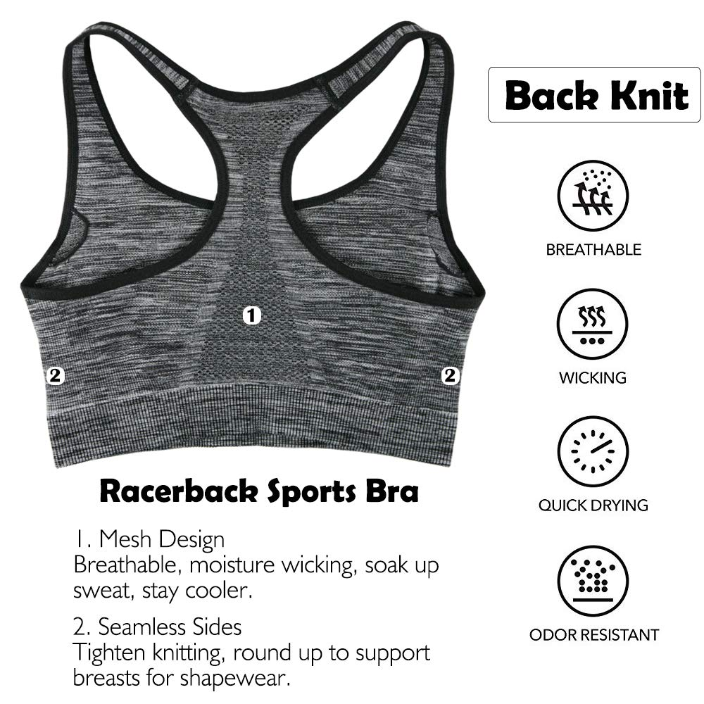 CableMax Padded Removable Push Up Support Racerback Bras