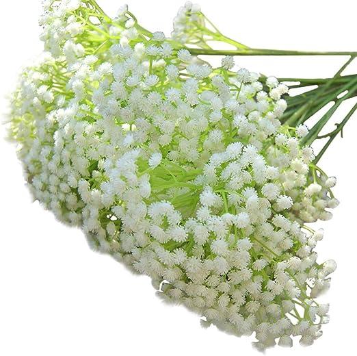 Gyp Gysophilla White Silk Artificial Wedding Flowers Bridal Bouquet