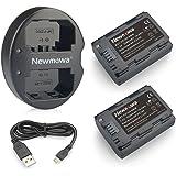 Newmowa NP-FZ100互換バッテリー 2個+充電器 対応機種 NP-FZ100, BC-QZ1 and Alpha 9, A9, Alpha 9R, A9R, Alpha 9S, A7RIII A7R3, a7 III