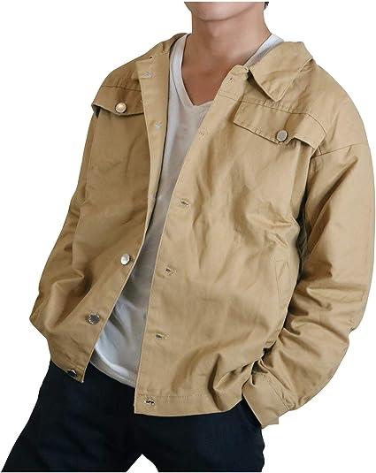 [リベクロ] ジージャン デニムジャケット カジュアル ビッグシルエット トップス アウター カバーオール オーバーサイズ