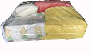 AK Plastics Clear Vinyl Zippered Storage Bags,20 x 23 x 6 inch, Set of 2, by AntiqueKitchen