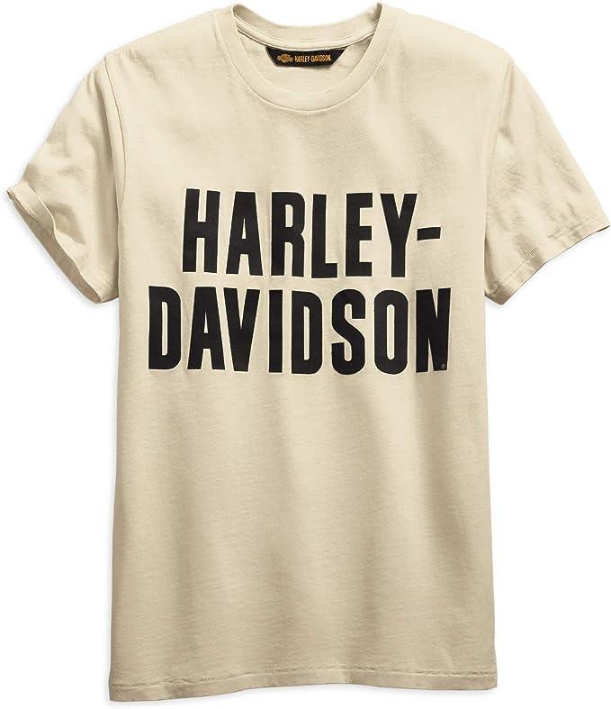 HARLEY-DAVIDSON - Camiseta de Manga Corta para Hombre, diseño con Logo de Equipamiento Oficial, Color Blanco: Amazon.es: Ropa y accesorios