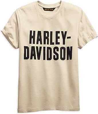 HARLEY-DAVIDSON Official Men's Jersey Appliqué Logo Slim Fit Tee, Off-White