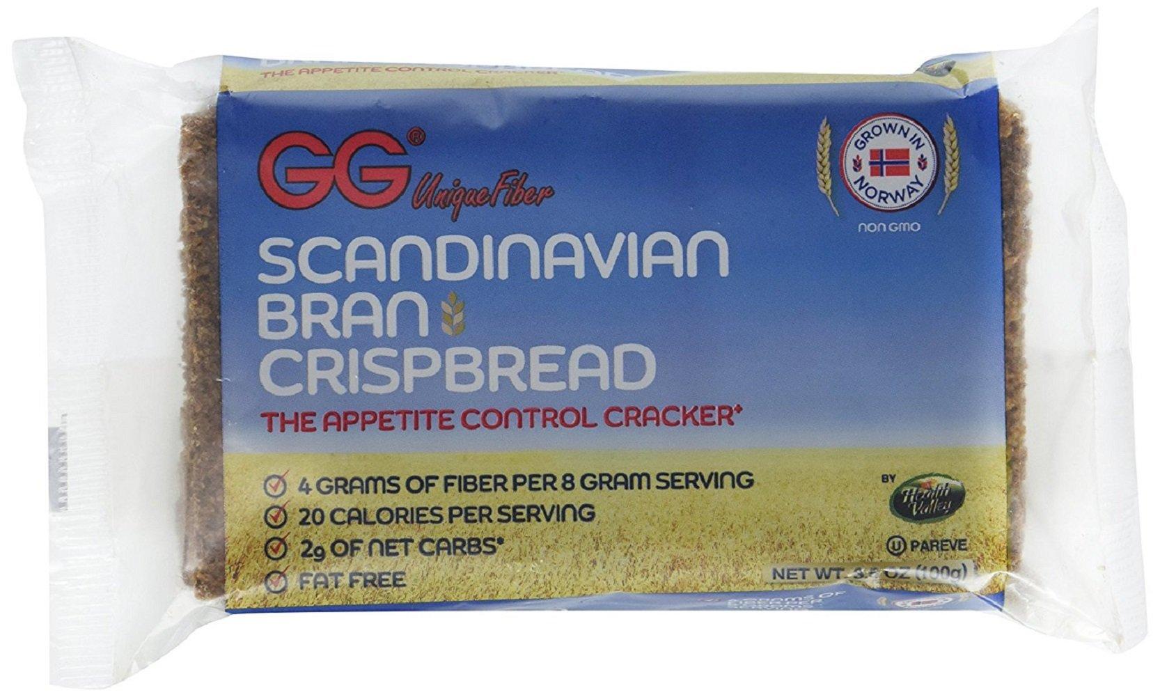 GG Scandinavian Bran Crispbread, 3.5-Ounce Packages (Pack of 10)