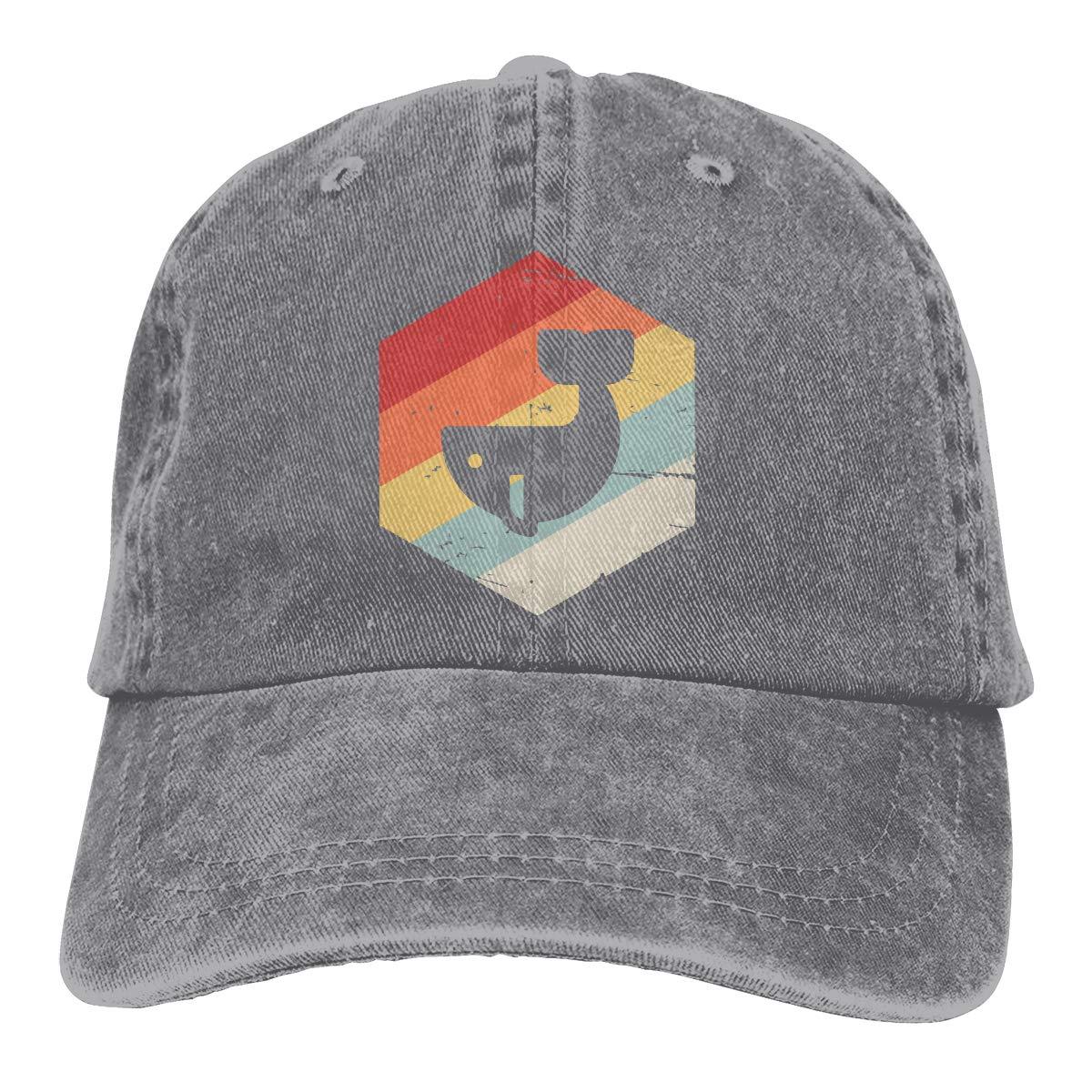 Men Women Classic Denim Fabric Baseball Cap Vintage Whale Trucker Cap