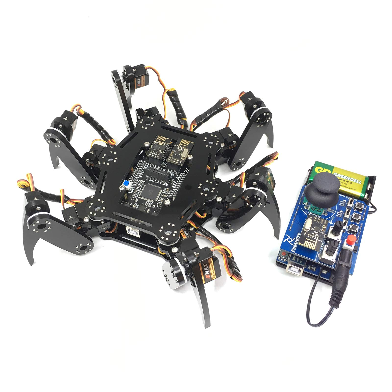 Freenove Hexapod Robot Kit with Remote Control, Compatible with Arduino Raspberry Pi Processing, Spider Walking Crawling STEAM STEM Project by Freenove (Image #1)
