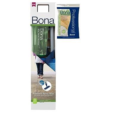 Bona Stone, Tile & Laminate Cleaner Spray Mop Premium BONUS DUSTING PAD