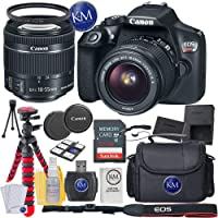 Canon EOS Rebel T6 DSLR Camera with 18-55mm Lens + 32GB Memory + Basic Photo Bundle