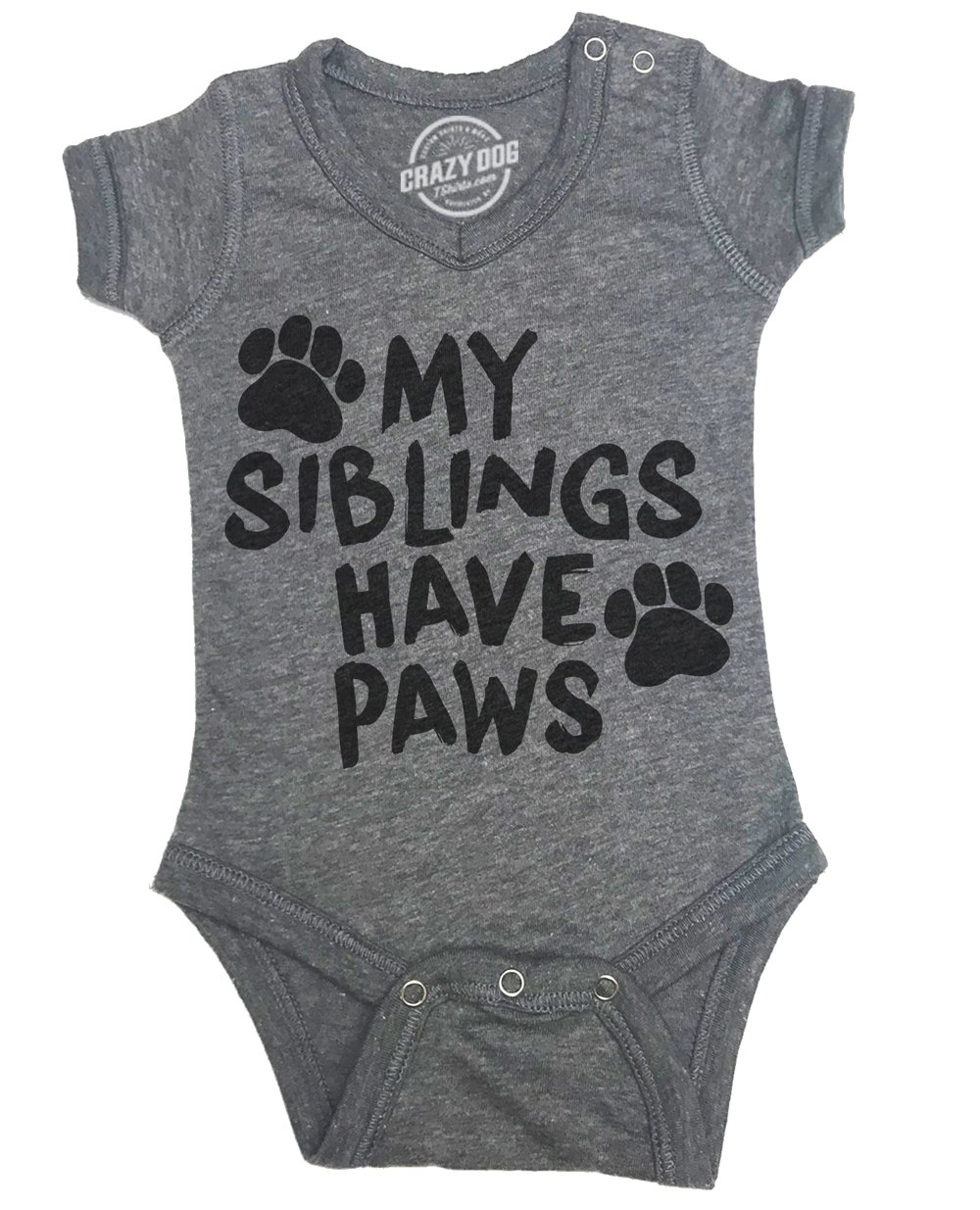 Creeper My Siblings Have Paws Cute Dog and Cat Baby Jumpsuit For Newborn Crazy Dog Tshirts
