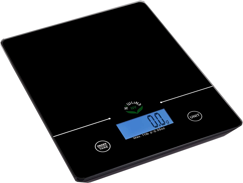NewlineNY 11 Lb Capacity Touch Pad Digital Kitchen Scale, SBK-KF201-BK Black