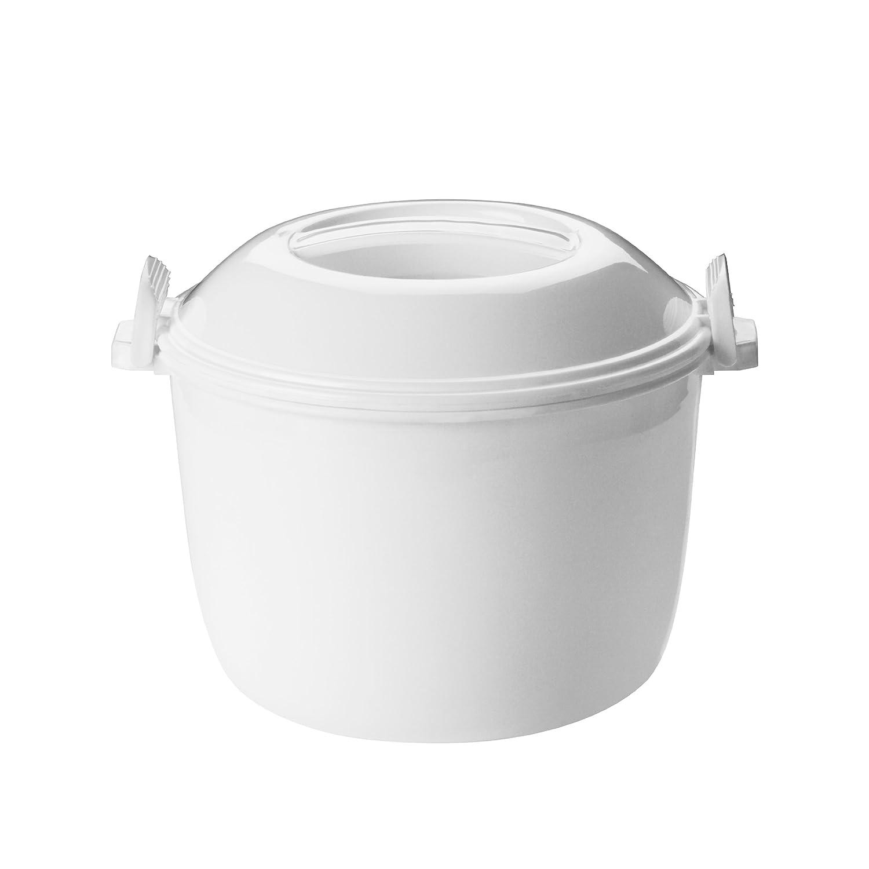 Premier Housewares 0805398 Pentola di Riso a Microonde Cucchiaio e Coppa Bianco 0805398_White