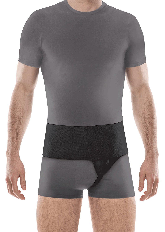Left Side Inguinal Groin Hernia Belt Large Black
