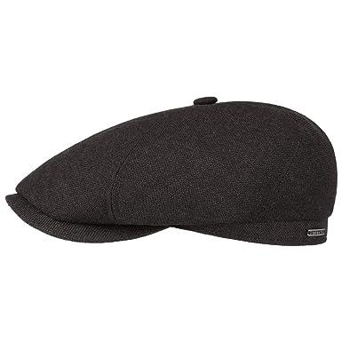 86057e38825 Stetson Brooklin Wool Cashmere Flat Cap Ivy hat Winter (55 cm - Anthracite)