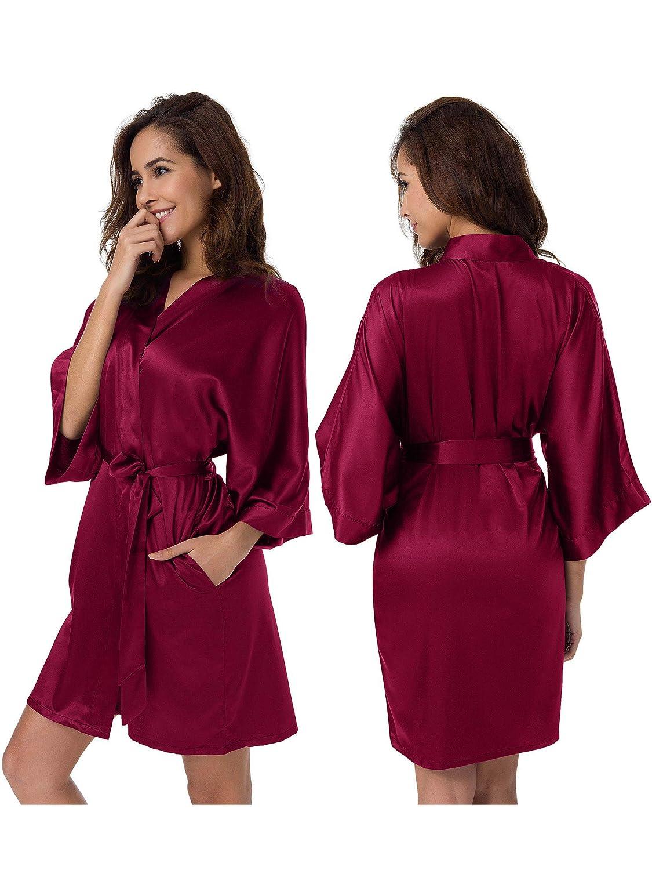 SIORO Women s Satin Robe bbf395e10