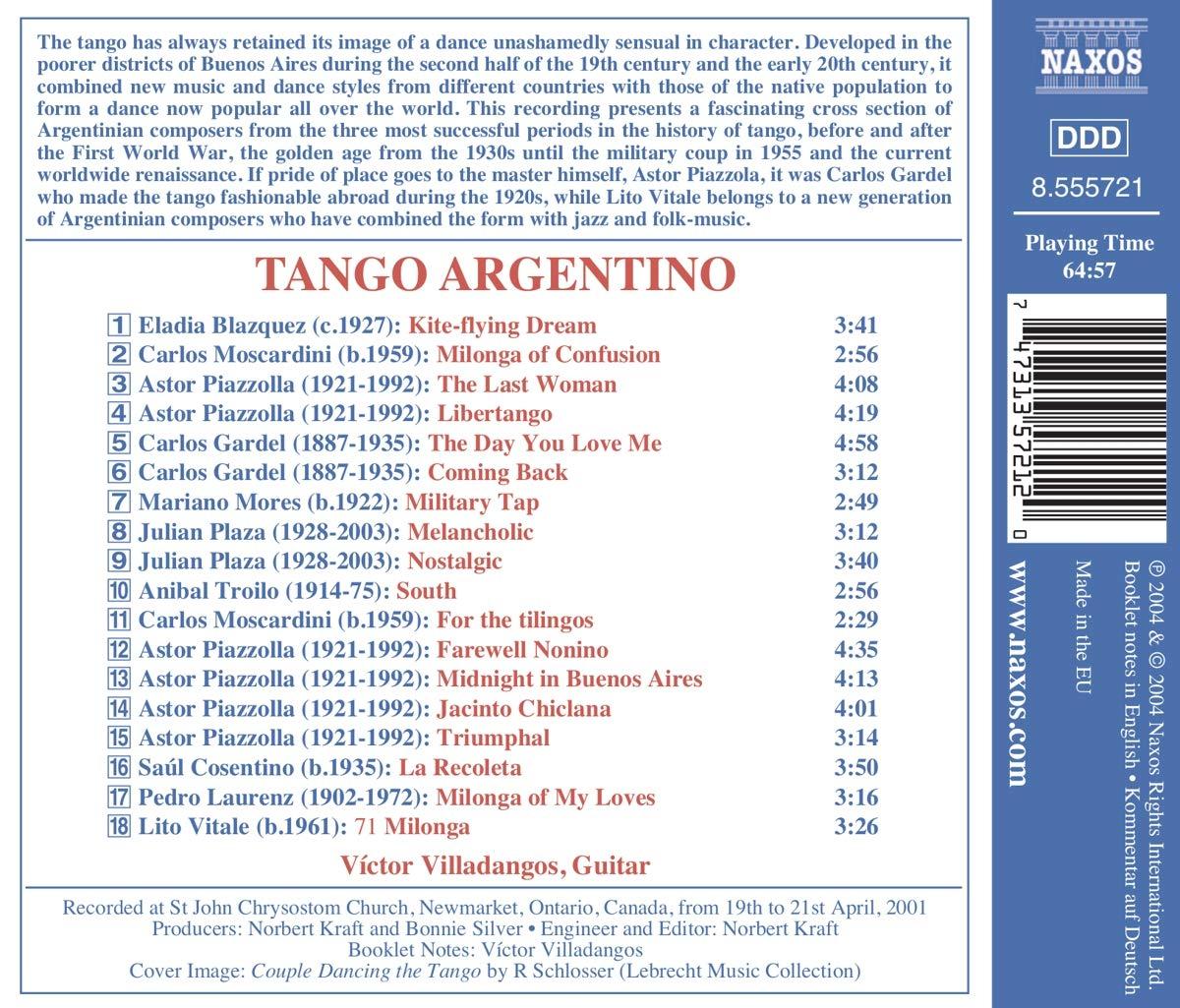 Tango Argentino : Victor Villadangos: Amazon.es: Música