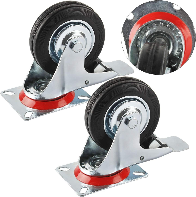 NOUVEAU jusqu/'à 400kg 4 pièces du jeu Double roulettes avec roue ø 75mm