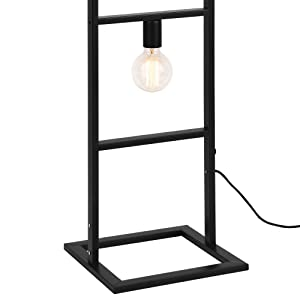 [lux.pro]® Lampada da terra elegante - nero - 4 fiamme