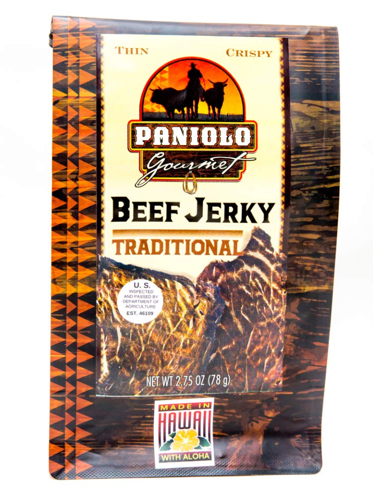 Crispy Beef Jerky, Traditional Beef Chips Paniolo Gourmet 2.75 oz.
