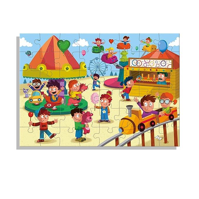 Diset - Set de 2 Puzzles, Parque acuático y Feria, 2 x 48 Piezas (69983): Amazon.es: Juguetes y juegos