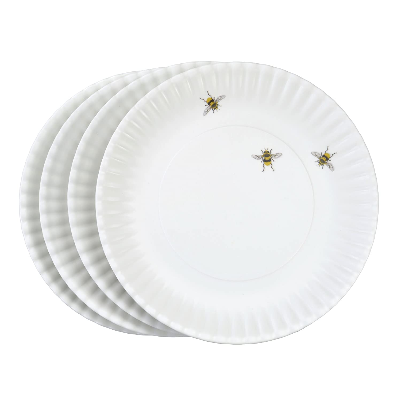 Mary Lake-Thompson Bee Melamine Dinner Plates, Set of 4