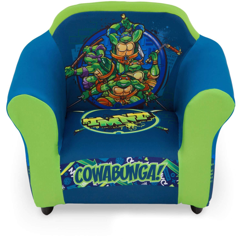 Delta Children Plastic Frame Upholstered Chair, Nickelodeon Teenage Mutant Ninja Turtles
