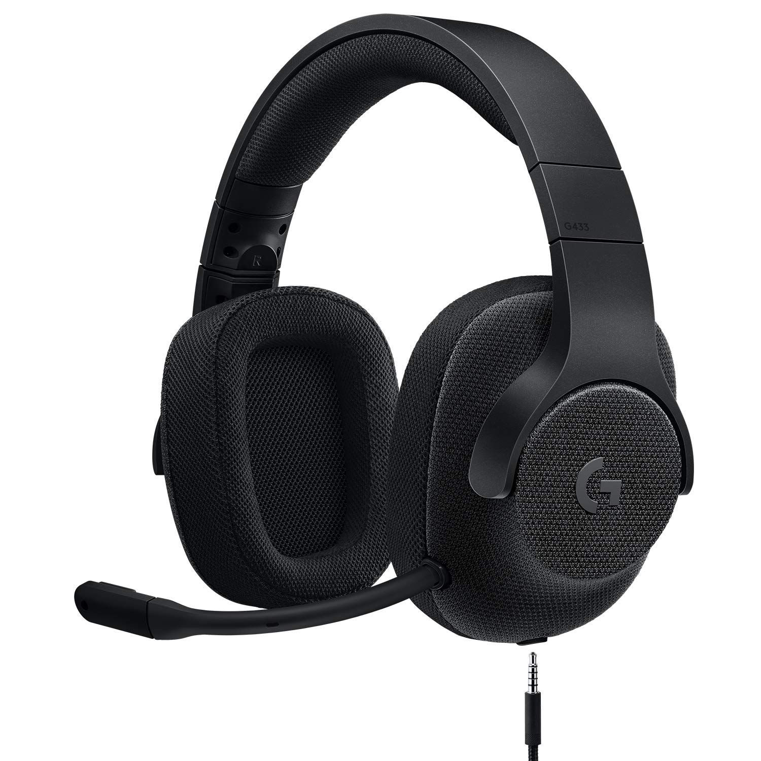Logitech G433 7.1 Wired Gaming Headset with DTS Headphone: X 7.1 Surround for PC, PS4, PS4 PRO, Xbox One, Xbox One S, Nintendo Switch - Triple Black by Logitech G