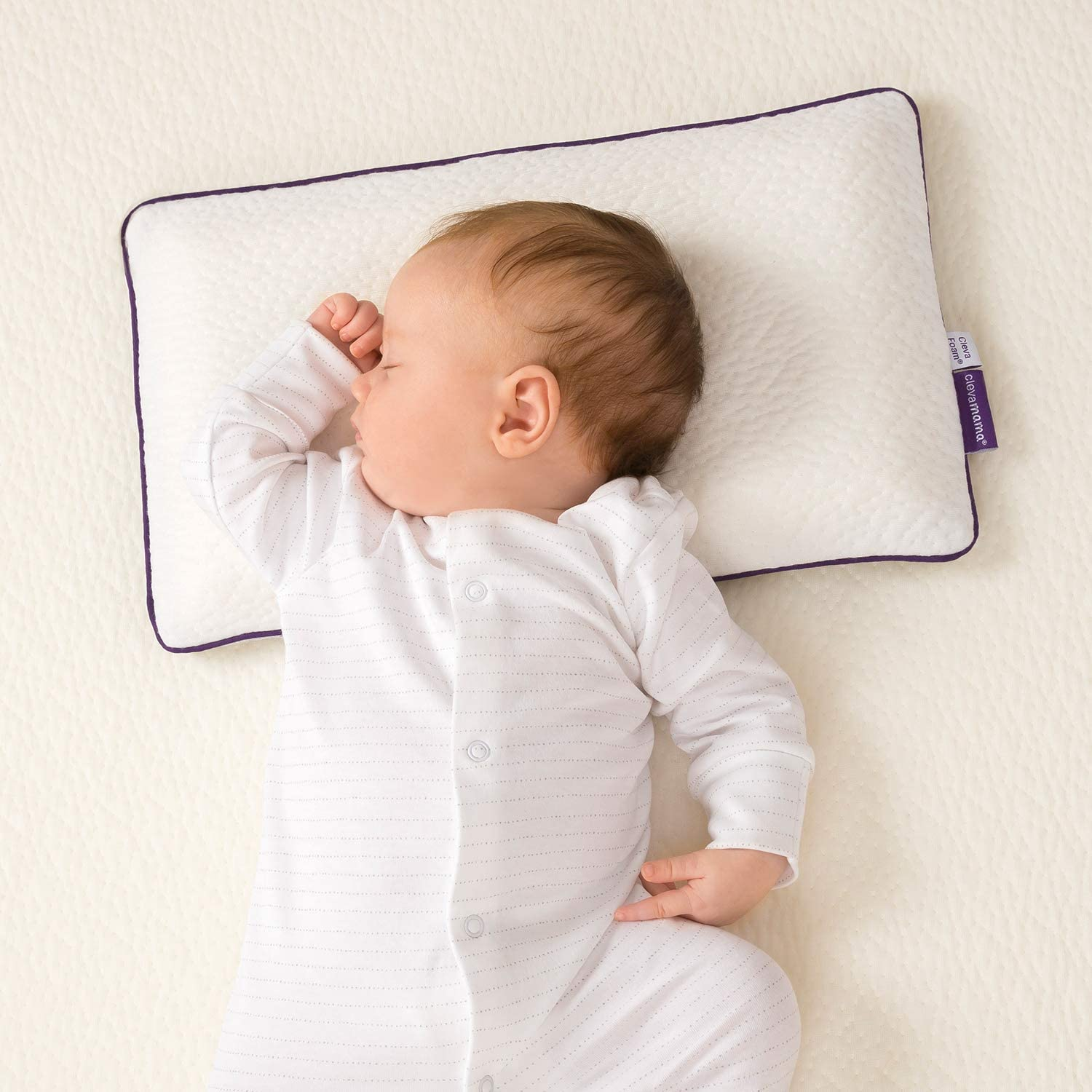 Perfect Gift for A Pregnant Mum 0-12 Months Baby Pillow Prevents Flat Head Syndrome in Newborns Tanku Toys Baby Cushion Designed for Comfortable Sleep + Extra Washable Pillowcase Blue