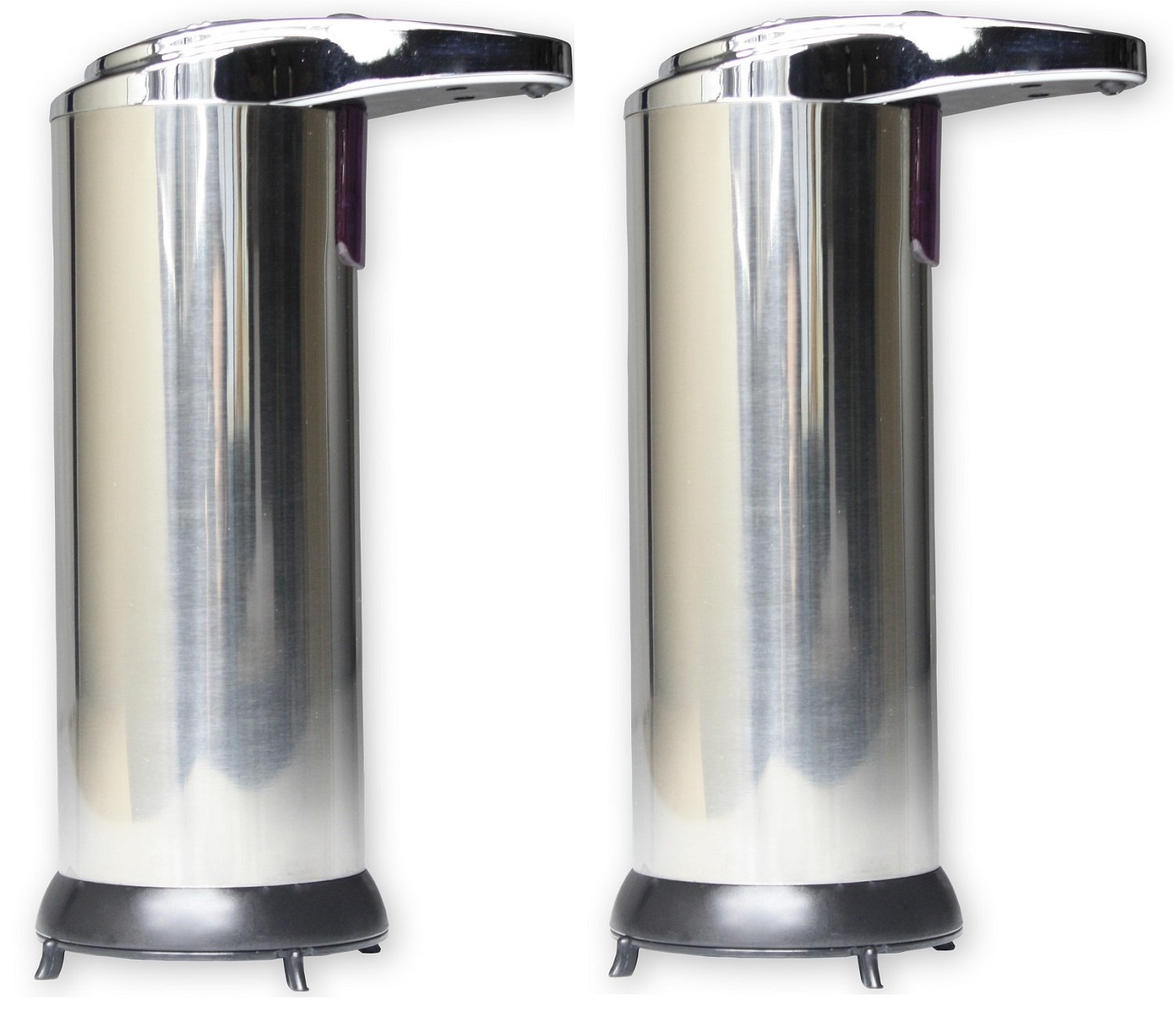 2 X Hausen Automatic Hands Free Chrome Bathroom Kitchen Liquid