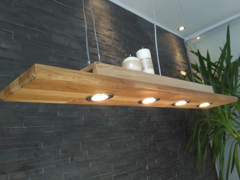 dimmbare led h ngelampe holz eiche h ngeleuchte pendelleuchte 120cm vintage gu10 ebay. Black Bedroom Furniture Sets. Home Design Ideas