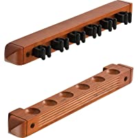 Viper 2-Piece Wall Mounted Hardwood Billiard/Pool Cue Rack, Holds 6 Cues
