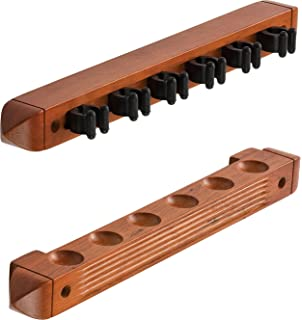 Fat Cat 2-Piece Wall Mounted Hardwood Billiard/Pool Cue Rack,