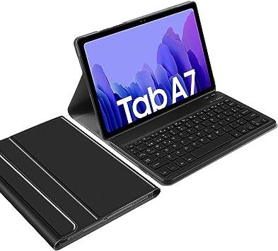 IVSO Español Ñ Teclado Compatible con Samsung Galaxy Tab A7, para Samsung Galaxy Tab A7 2020 Teclado, Funda con Wireless Teclado con Ñ para Samsung ...