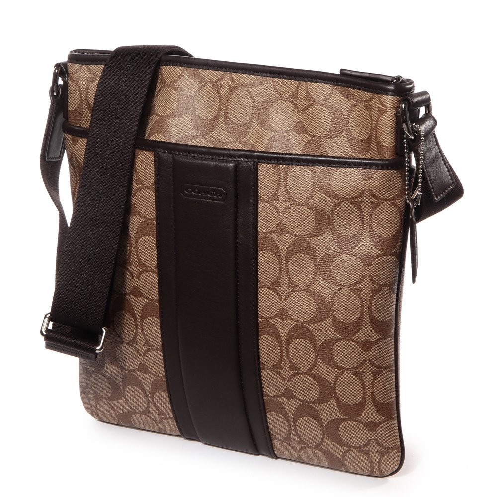 9f2a6436e9 Coach Men s Heritage Signature Small Zip Top Crossbody Bag - 71131 Brown   Amazon.ca  Shoes   Handbags