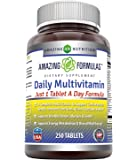 Amazing Formulas Daily Multivitamin Tablets (Non-GMO) - Just 1 Tablets A Day Formula A Complete Multivitamin to Support…
