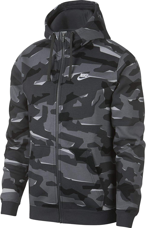 Nike M NSW Club Camo Hoodie FZ Sweat Capuche BB , Homme