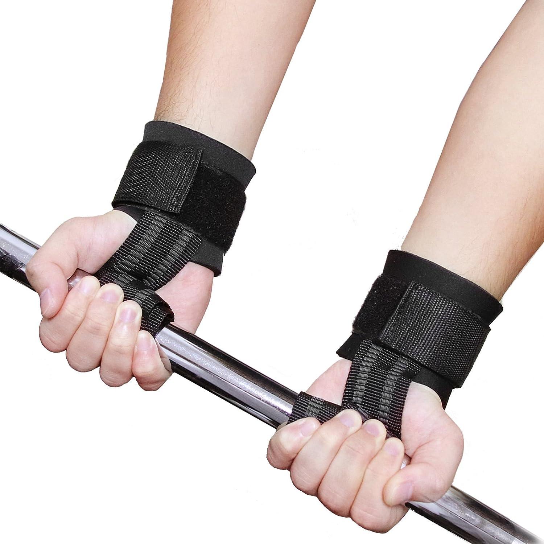 1 Paar WHCREAT Gewichtheben Straps Crossfit Wrist Support Wraps mit Neopren Polsterung f/ür Hand Bar Bodybuilding Training Workout