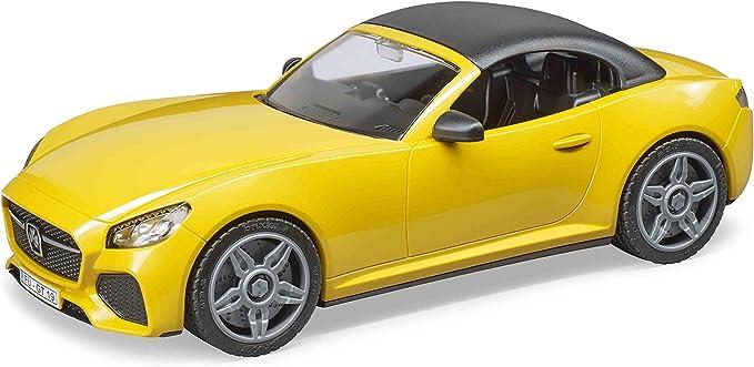 Bruder BRU3480 Véhicule cabriolet de couleur Jaune