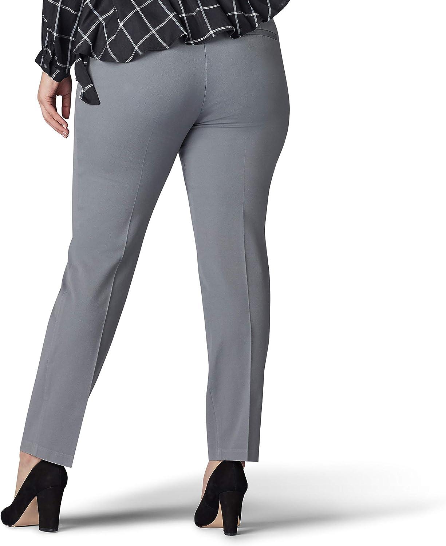 LEE Womens Plus Size Sculpting Fit Slim Leg Pull on Pant
