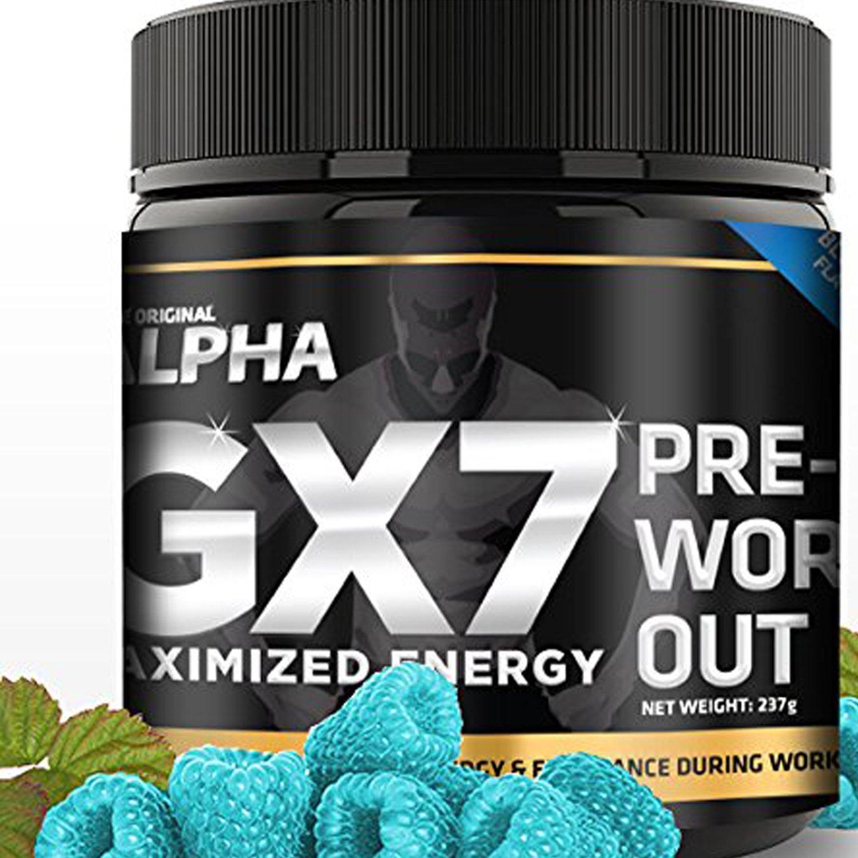 The Original Alpha Alpha Gx7 Pre-Workout, Blue Raspberry, 237 grams