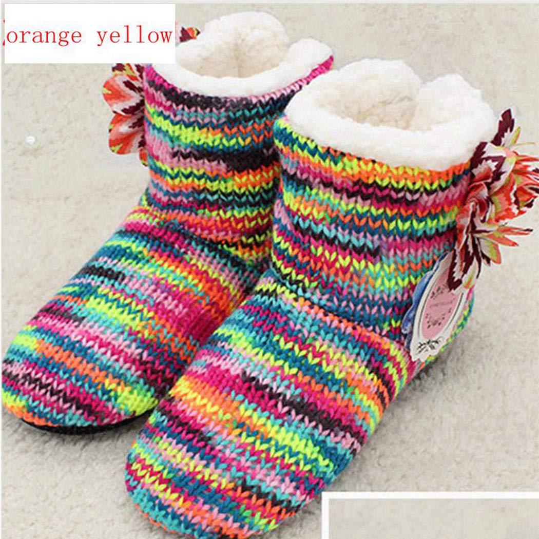 Zapatos Suaves y cálidos Botas Mujer Piso Interior Pisos Flores de Ganchillo Inicio Regalos de Invierno Zapatillas soñolientas: Amazon.es: Zapatos y ...