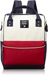 Anello Polyester Canvas Backpacks (White and Red)