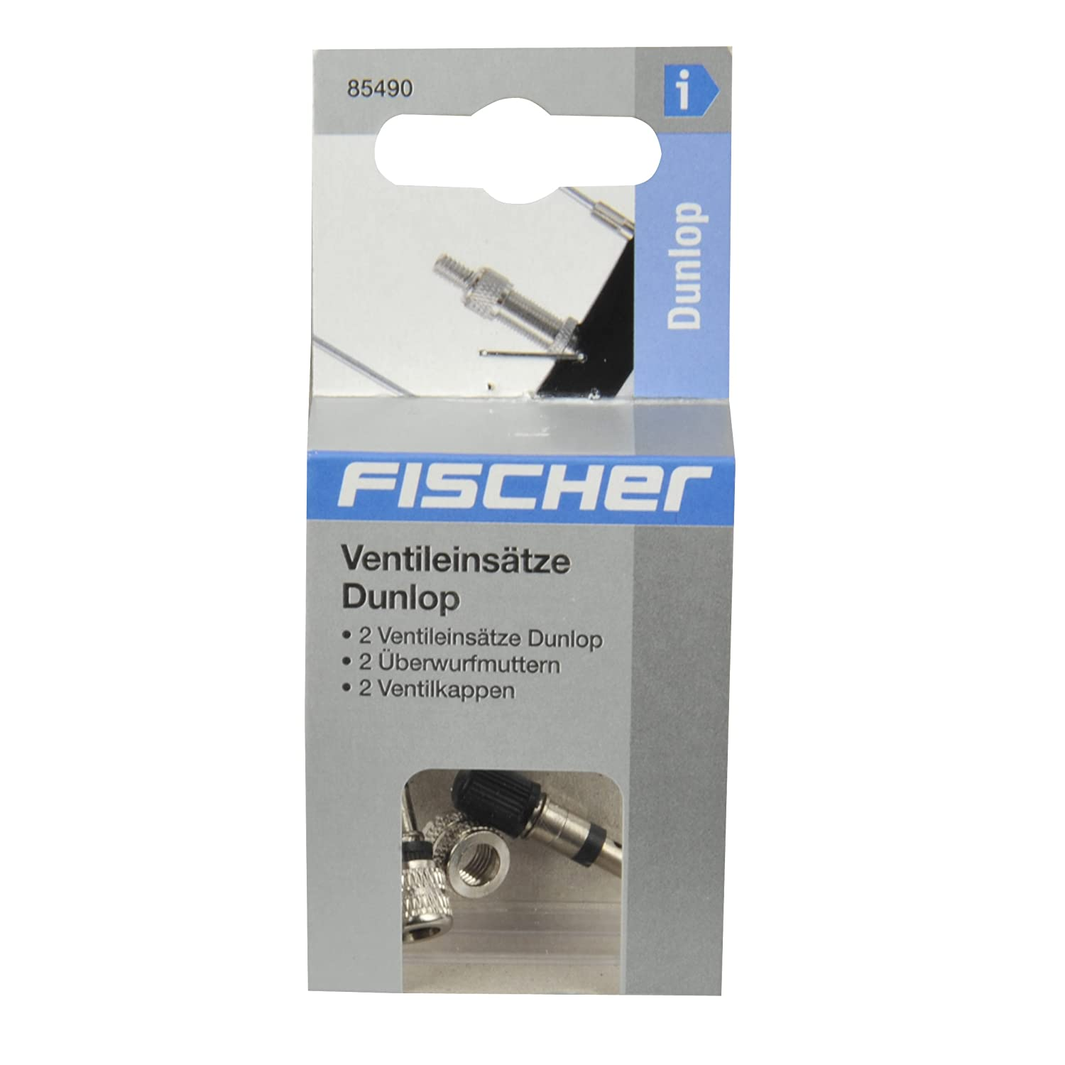 Set of 4 Grey Fischer Adults Valve Set Dunlop