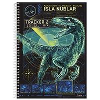 Foroni 9110, Caderno Universitário, Capa Dura, 1 x 1, Jurassic World, 96 Folhas, Multicor, Pacote de 04