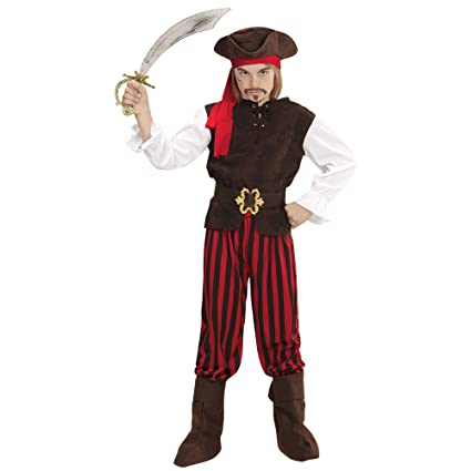 WIDMANN 65647 infantil Disfraz Pirata Niño, Boys, 140 cm ...