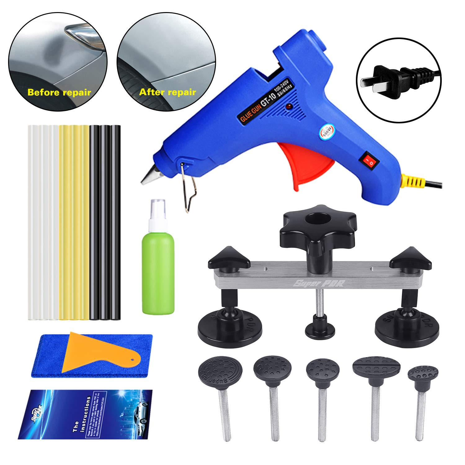 Fly5D Car Dent Removal Repair Tools Kit Dent Puller Set for Automobile Body Motorcycle Refrigerator Washing Machine