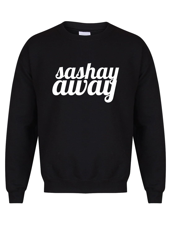 Black Kelham Print Sashay Away Unisex Fit Sweater Fun Slogan Jumper