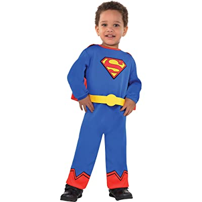 Costumes USA Classic Superman Costume for Babies, Size 12-24 Months, Includes a Jumpsuit, an Attached Belt, and a Cape: Clothing