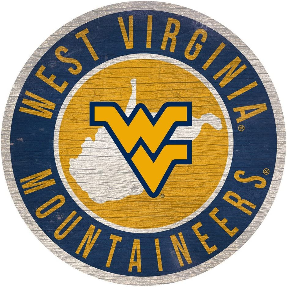 Fan Creations NCAA Wood Sign 12 Inch Round State Design